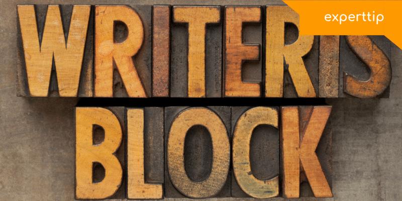 zo overwin je een writer's block